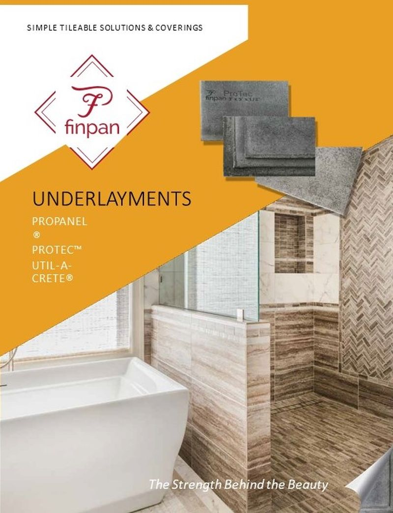 Underlayments Catalog Cover Page