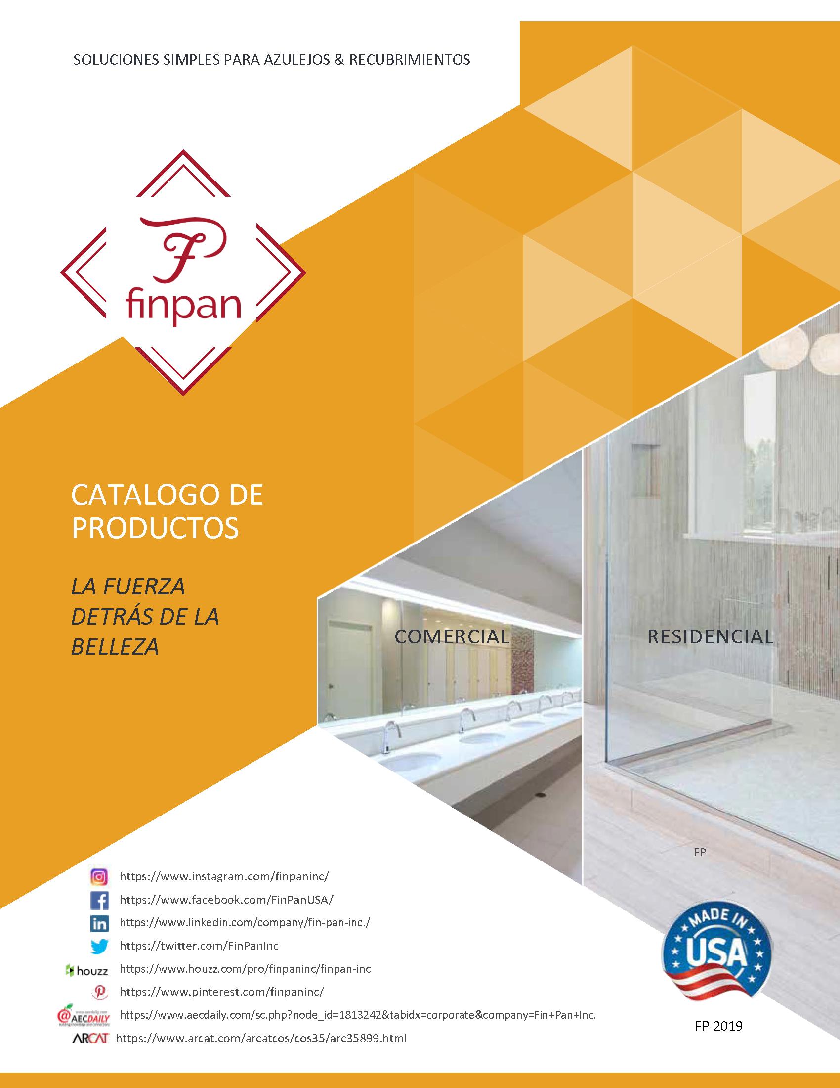 FinPan Catalog 2019 - Spanish